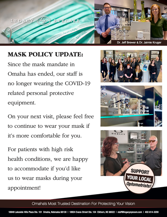 Mask Policy Update!