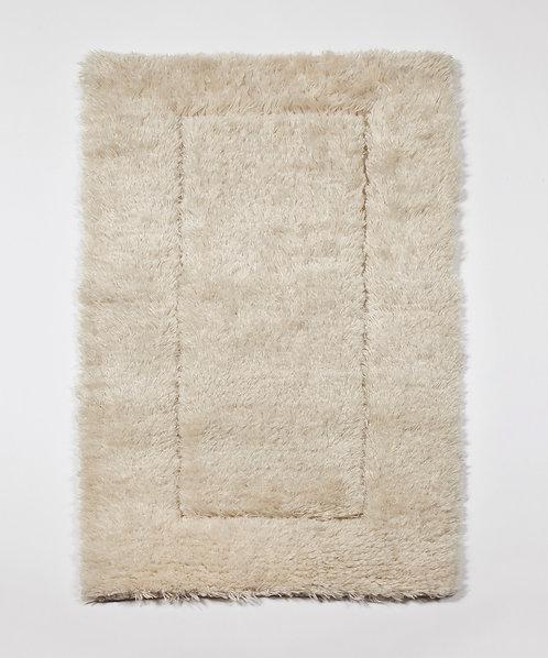Tufted Mohair Rug - Chalk