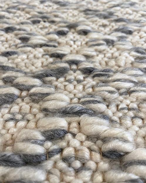 Twisted Diamond Weave Mohair Rug