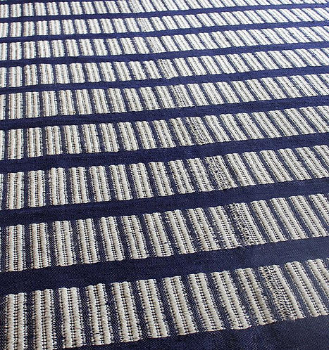 Ribbed and Flat Weave Mohair Rug