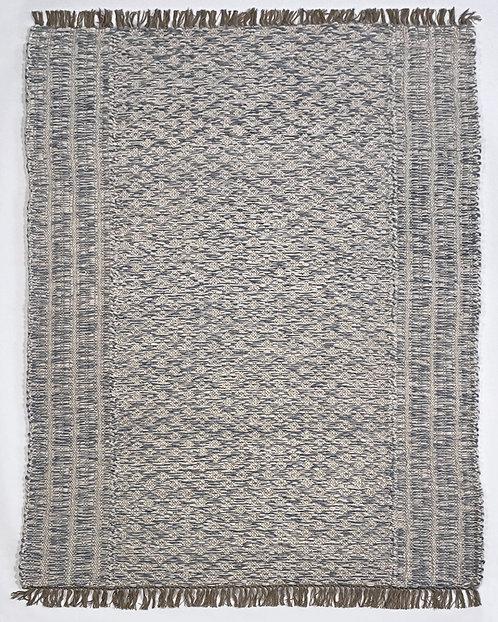 Ribbed and Diamond Twisted Weave - Chalk & Medium Grey