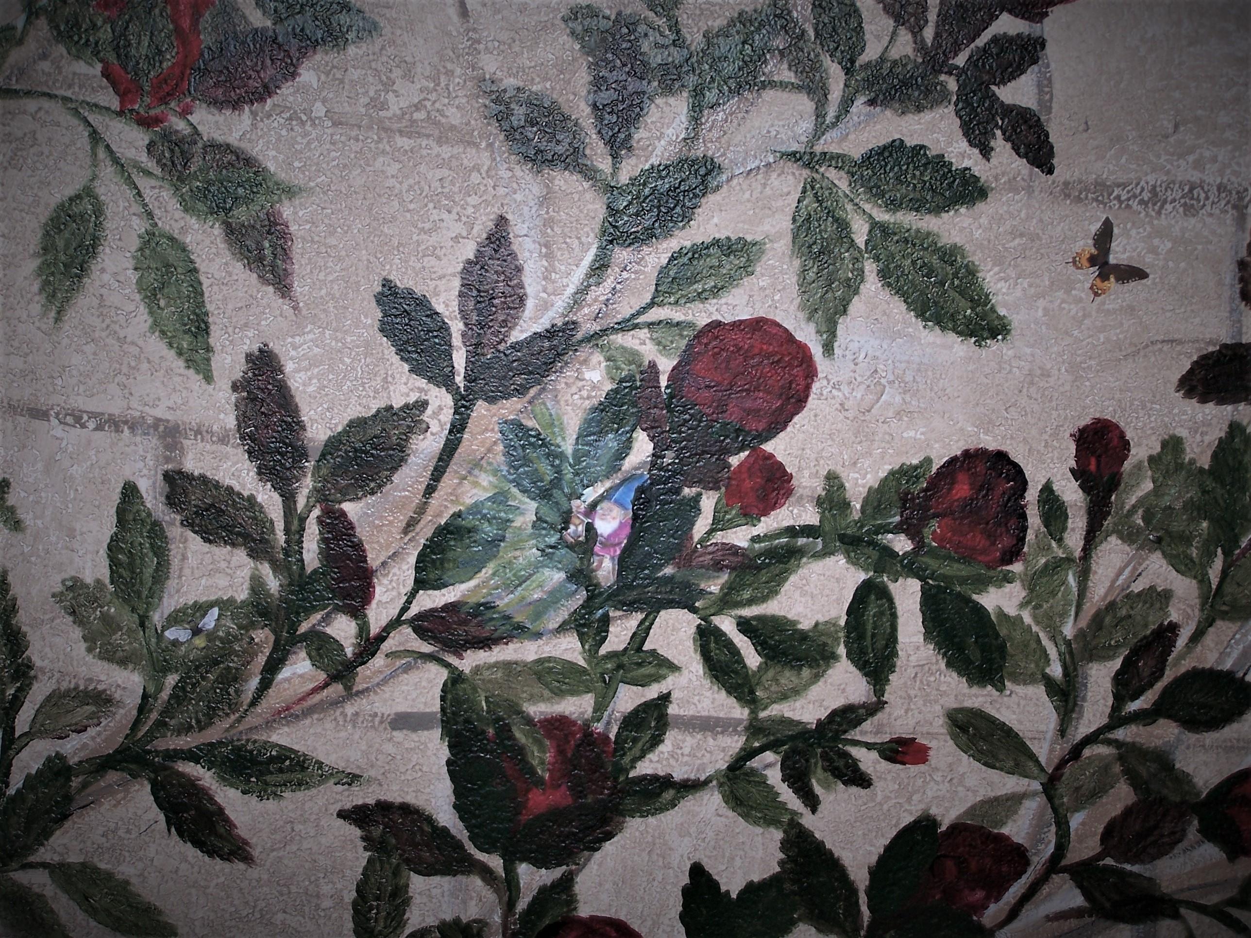 Gnomes in Rose Vine