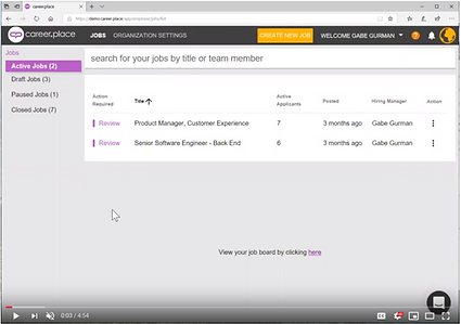 Career.Place Dashboard