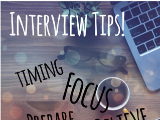 Last Minute Interview Tips!