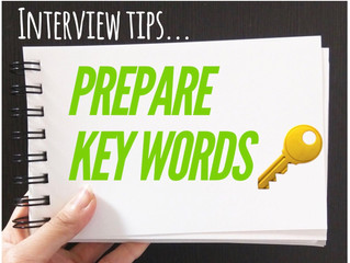 Interview Tips: Prepare Key Words!