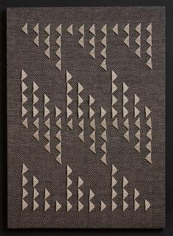 "Untitled (Black Primary), 2017, linen, 28.5"" x 20"""