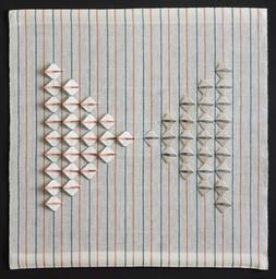"""Beacon, 2015, linen, 25"""" x 25"""""""