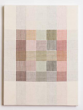 """Untitled (White Pastel Plaid), 2018, linen, 23"""" x 17"""""""