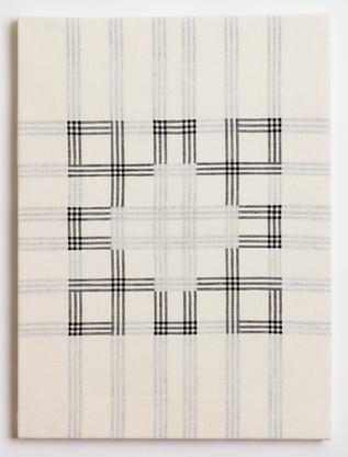 """Untitled (White Cloverleaf), 2018, linen, 23"""" x 17"""""""