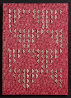 """Untitled (Red Primary), 2017, linen, 28.5"""" x 20"""""""