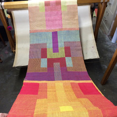 Multiple pieces coming off the loom