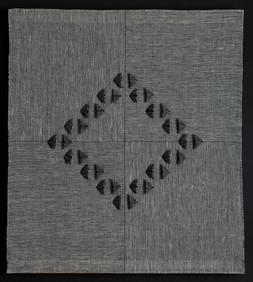"Untitled (Shadow Weave), 2016, linen, 25"" x 25"""