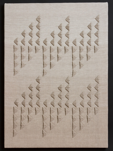 """Untitled (Natural Primary), 2017, linen, 28.5"""" x 20"""""""