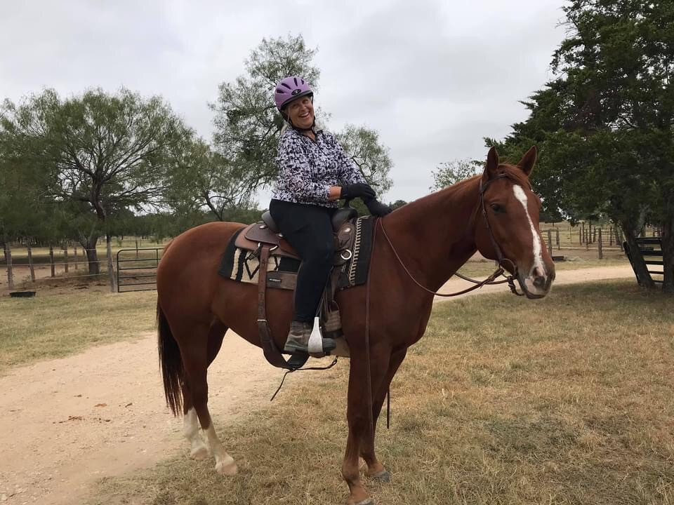 Happy student, Terri with Scarlett, owned by C. Smith