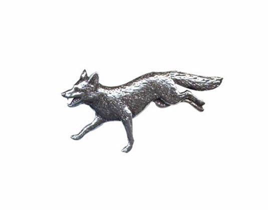 Running Fox Pewter Pin