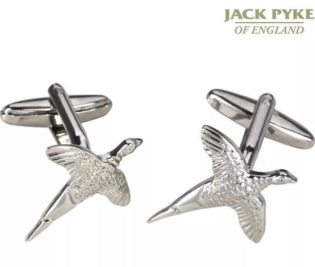 Jack Pyke Pheasant Cufflinks With Bar Fitting