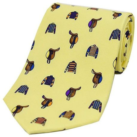 Soprano Silk Tie Horse Riding Jockey Saddles