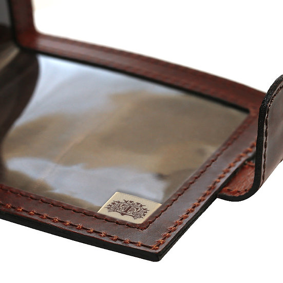 Teales Devonshire Leather Certificate Wallet -Harness Brown
