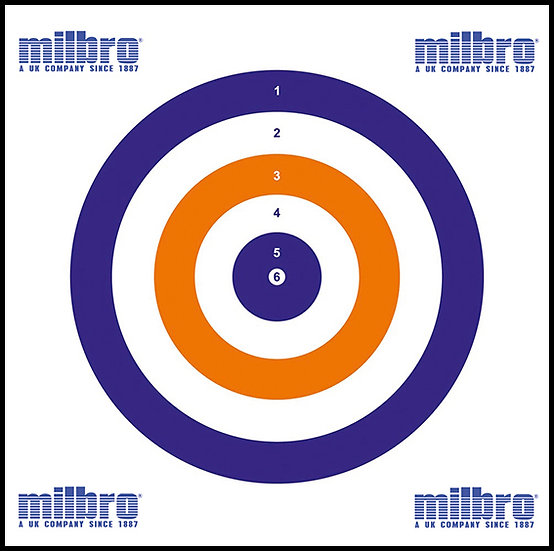 Milbro 14cm All Rounder Air Gun Targets (100)