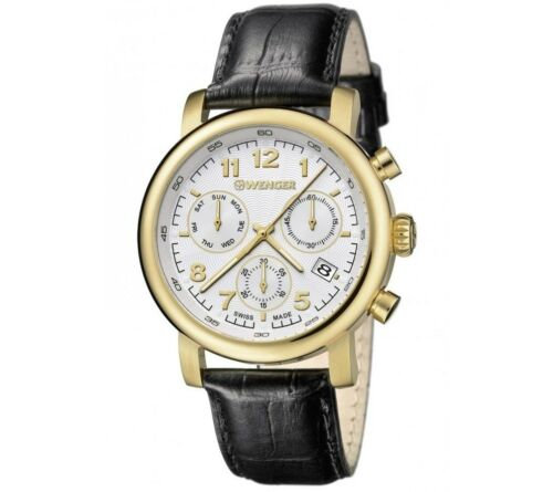 Wenger Chronograph Watch Swiss Made with Leather Strap