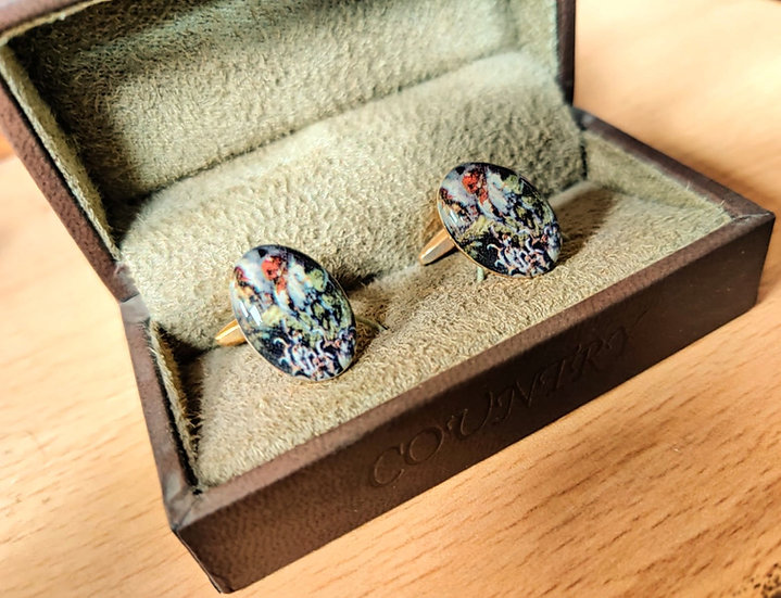 Oval Horse And Hound Hunting Cufflinks