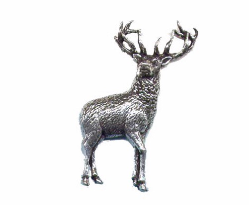 Stag Pewter Pin