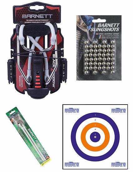 Barnett Black Widow Slingshot with Accessories  -Bundle Offer
