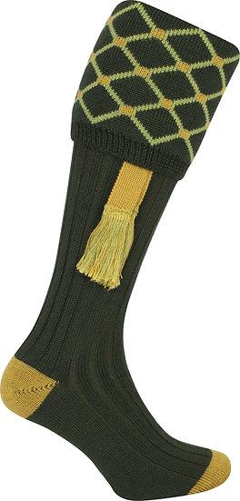 Jack Pyke Diamond Shooting Socks With Matching Garters Size 8-11