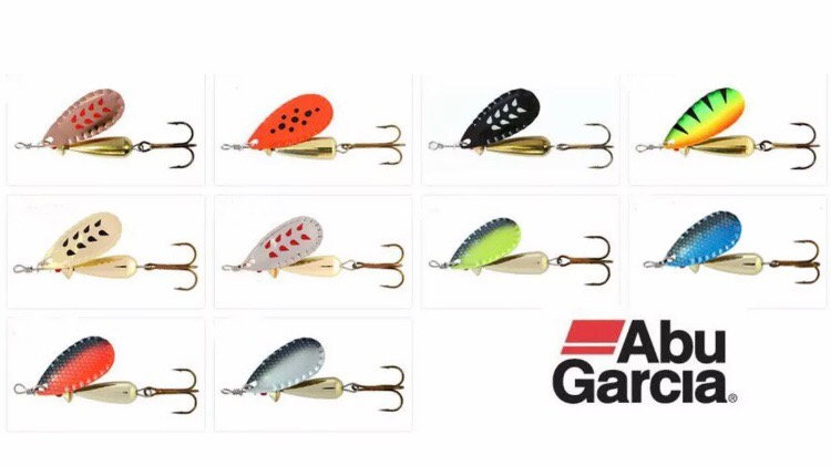 Abu Garcia Droppen Spinners 12g -Choice Of Colours