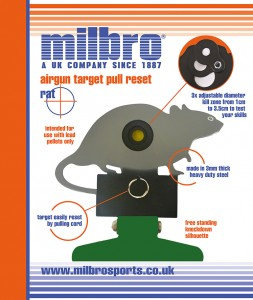 Milbro Freestanding Folding Silhouette Knockdown Air Gun Target