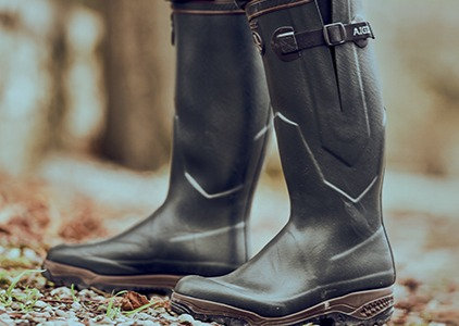 Aigle Parcours Iso Neoprene Wellington Boots -Bronze Original Tread Pattern