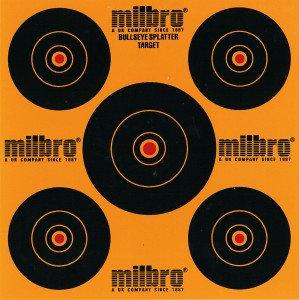 Milbro 5 Ring Splatter Targets 17cm (25)