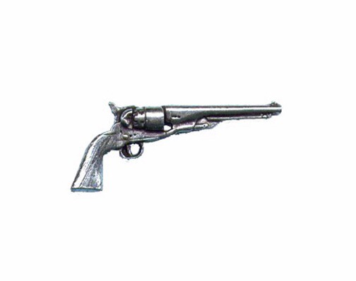 Antique Revolver Pewter Pin