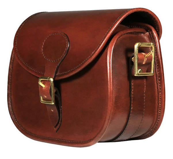 Teales Premier Leather Cartridge Bag - Harness Brown