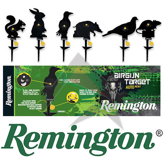 Remington Airgun Knock Down and Reset Target Silhouette
