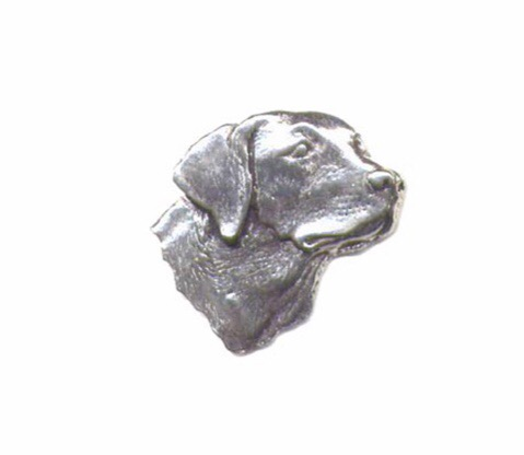 Labrador's Head Pewter Pin