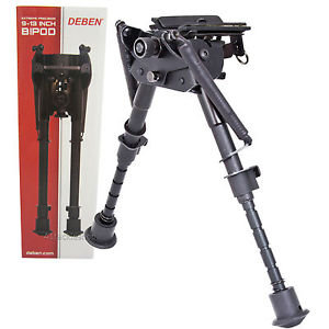 "Deben Rifle Extreme Precision Bipod Lever Tilt 9""-13"""