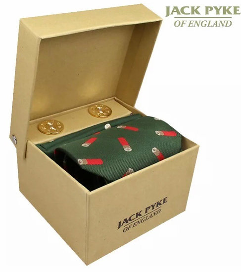 Jack Pyke Cartridge Tie, Handkerchief And Cufflink Set