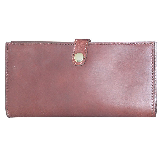 Teales Premier Leather Double Certificate Holder -Harness Brown