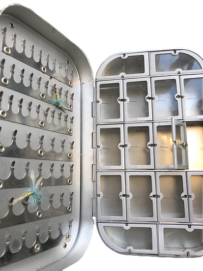 Metal Double Sided Fly Box With Compartments