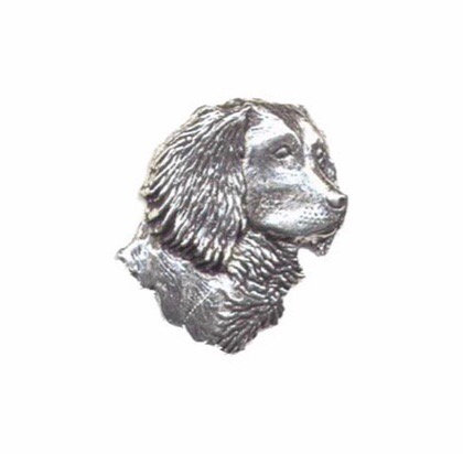 Spaniels Head Pewter Pin