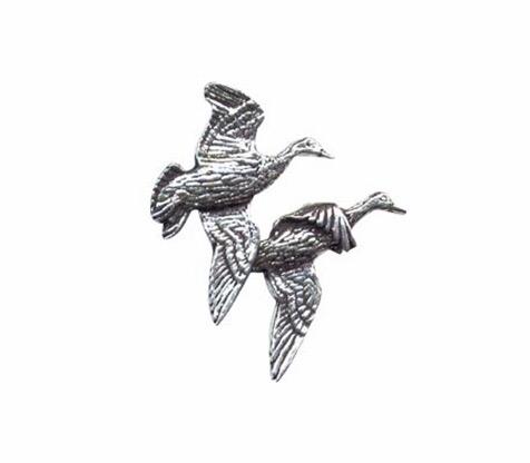 Pair of Ducks Pewter Pin