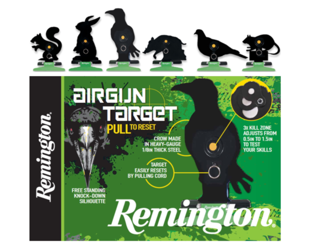 Remington Airgun Target Free Standing Knock Down And Reset Silhouette