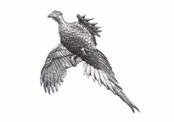 Large Pheasant Pewter Pin