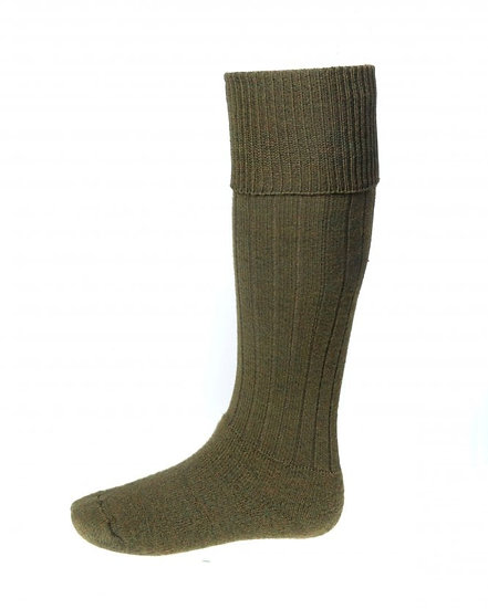 House Of Cheviot Scarba Socks In Bracken