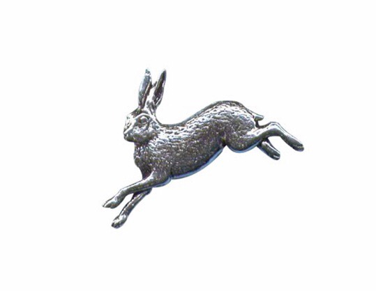 Hare Pewter Pin