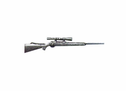 Hunting Rifle Pewter Pin