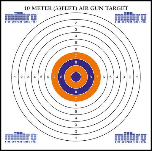 Milbro 14cm Air Gun Targets (100)