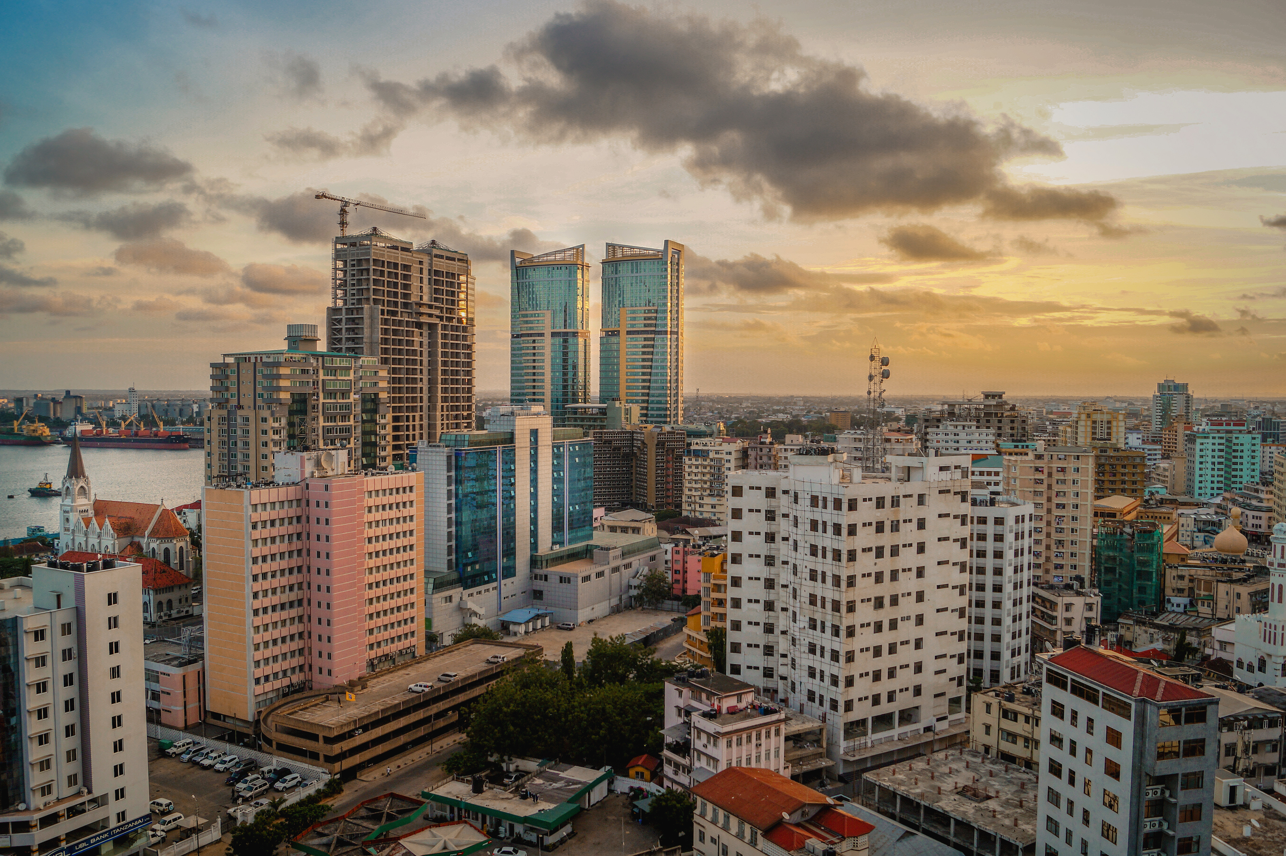 Dar es Salaam Skyline Sunset, Tanzania