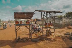 Selling fuel in Benin